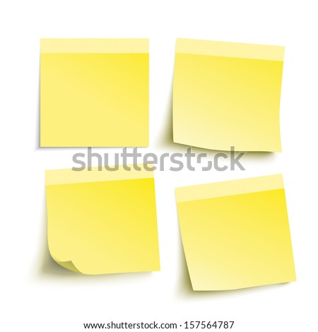 Infographic with yellow stickers on the grey background. Eps 10 vector file. - stock vector