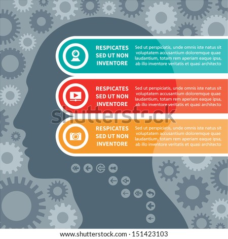Infographics Concept with a Human Head - stock vector