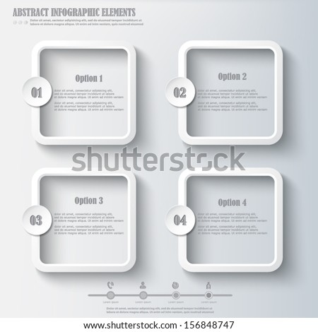Infographics design element - stock vector