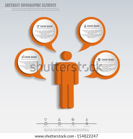 Infographics design element with stick figure - stock vector