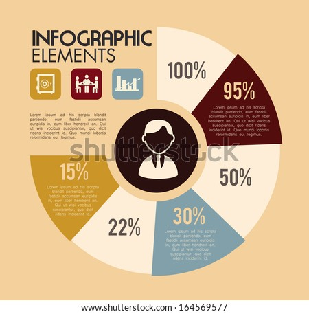 infographics design over pink background vector illustration  - stock vector