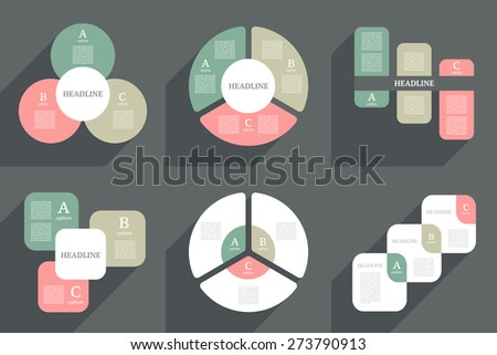 Infographics design template. Business concept with 3 options.  - stock vector