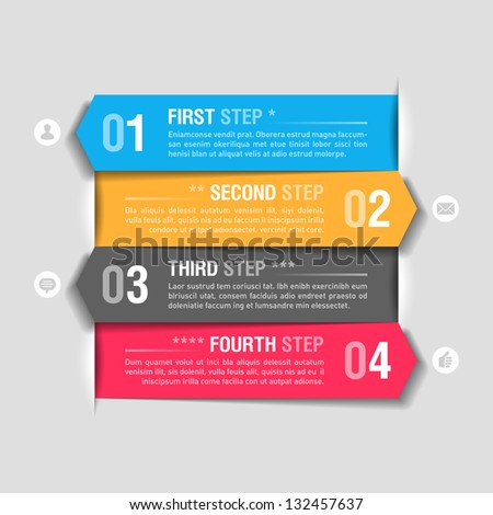 Infographics design template. Fully editable vector. - stock vector
