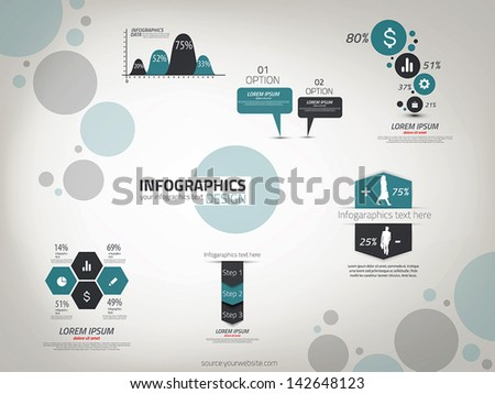 Infographics design template. Vector can be used for workflow layout, diagram, number options, web design. - stock vector