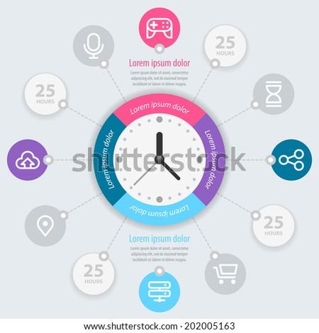Infographics design. Vector eps 10 - stock vector