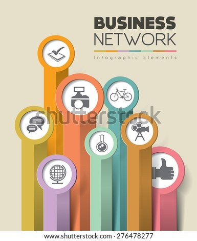 Infographics element. Vector illustration. can be used for workflow layout, diagram, number options, step up options, web design - stock vector