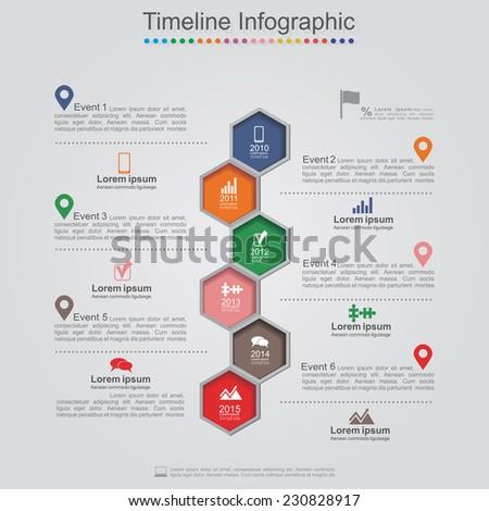 Infographics element web design layout. Vector illustration. - stock vector
