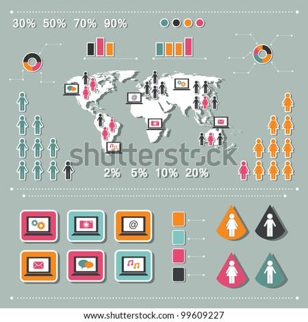 infographics elements - stock vector