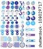 INFOGRAPHICS ELEMENTS 2 PURPLE - stock vector