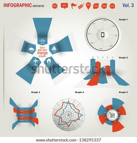 Infographics elements set  - stock vector