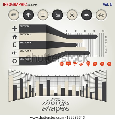 Infographics elements set  - stock vector