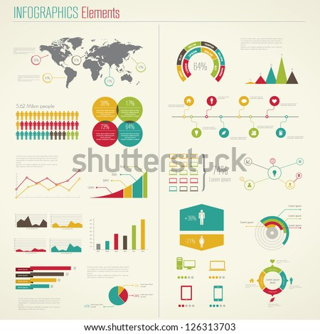 Infographics Elements. Vector Illustration - stock vector