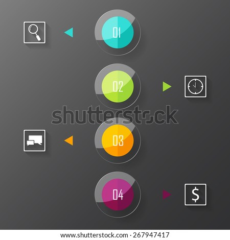 Infographics elements. Vector illustration can be used for workflow layout, diagram, number options, web design. - stock vector