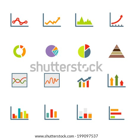 Infographics icons vector eps10 - stock vector