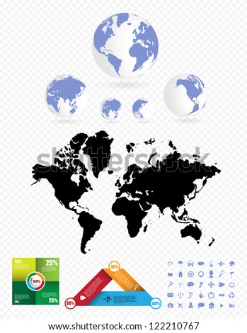 Infographics master collection - stock vector