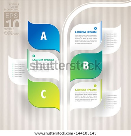 infographics nature leaves design - vector - stock vector