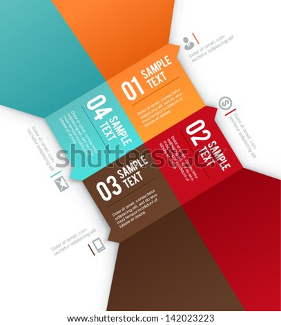Infographics options banner. Vector illustration - stock vector