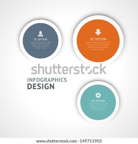 Infographics options design elements. Vector illustration. Scroll paper and banner numbers website eps 10.  - stock vector