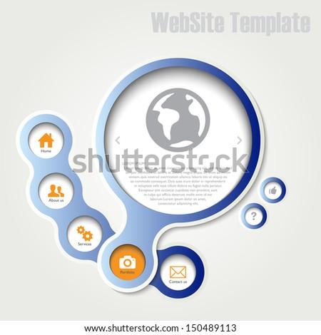 Infographics or website template, vector - stock vector
