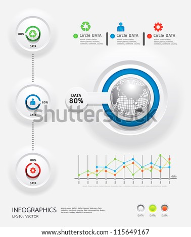 infographics set and Information Graphics vector. - stock vector