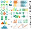 Infographics Set - Set of infographic elements.  Eps10 file with transparency.  - stock vector