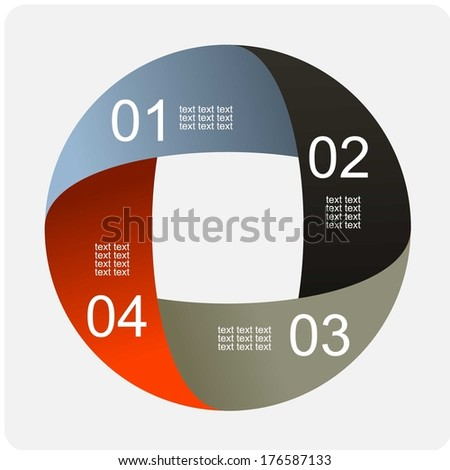 Infographics vector for some options. abstract background - stock vector