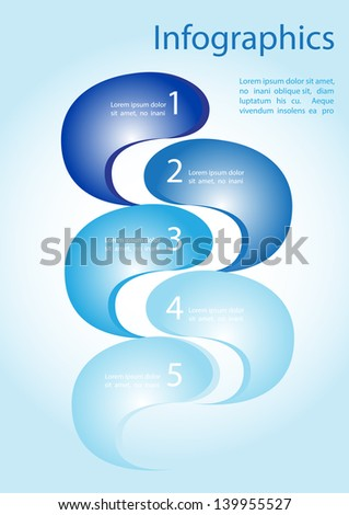 Infographics waves vector - stock vector