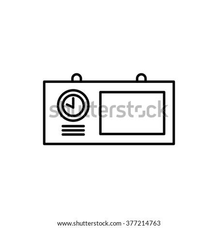 Information board clock icon,clock vector,clock icon,clock icon vector,info board vector,info board icon, info table vector,info board icon vector,info table icon vector,display vector,display icon - stock vector