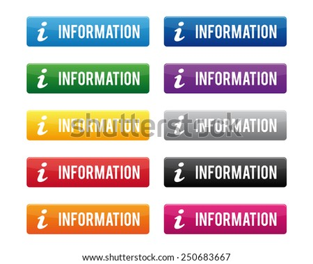 Information buttons - stock vector