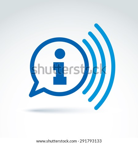 Information collecting and exchange theme icon, news, vector conceptual unusual symbol for your design. - stock vector