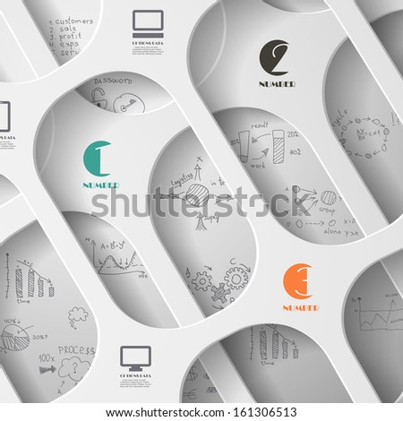 Information design - stock vector