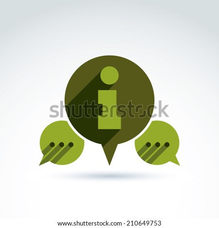 Information exchange theme icon, collect and analyze info, vector conceptual unusual symbol for your design. - stock vector