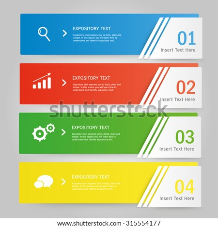 information graphic business vector pattern template presentation graphic number design - stock vector