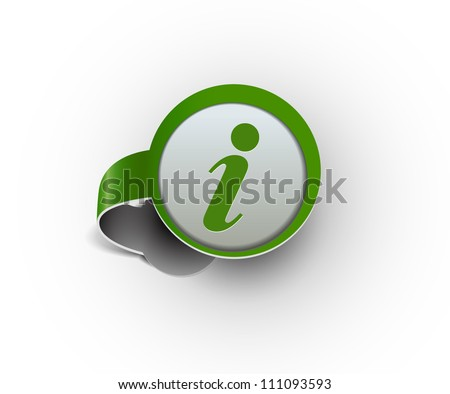 information hanging sticker icon, vector - stock vector