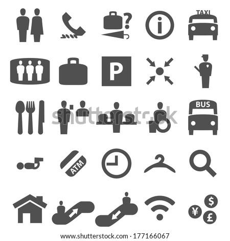 Information Icon Set - stock vector