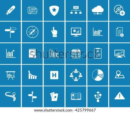 Information icons - stock vector