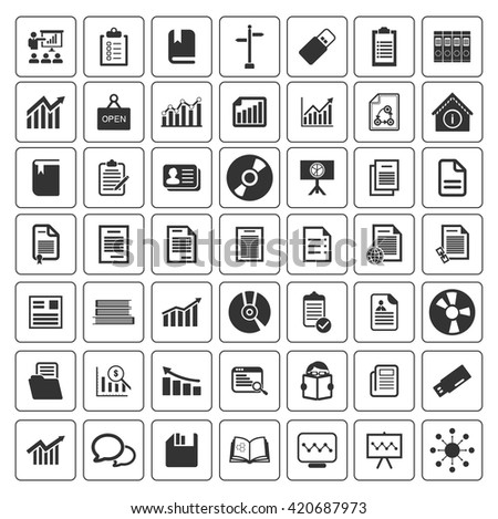 Information icons set - stock vector