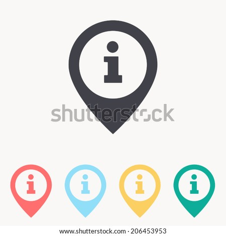 information on pin icon , vector ilusstration  - stock vector