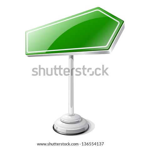 Information road traffic sign isolated on white. - stock vector