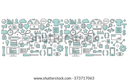 Information Technology Background - stock vector