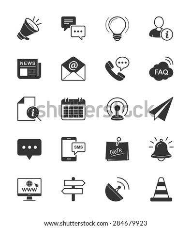 Information & Website icon on White Background Vector Illustration - stock vector