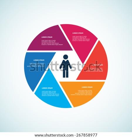 Information Wheel - stock vector