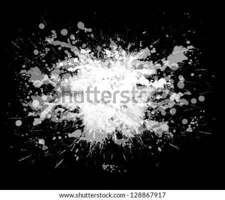 ink blot on a white background. Isolated illustration. - stock vector