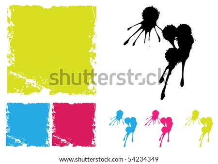 ink blots designs - stock vector