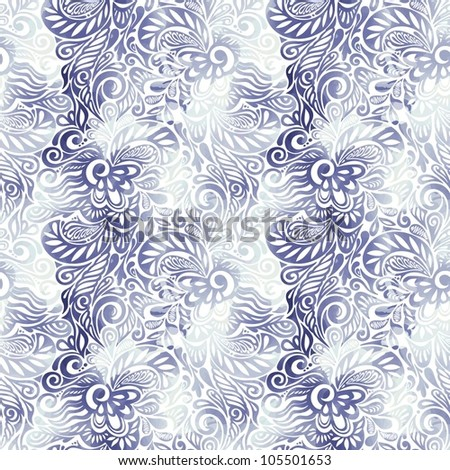 Ink blots seamless floral pattern-model for design of gift packs, patterns fabric, wallpaper, web sites, etc. - stock vector