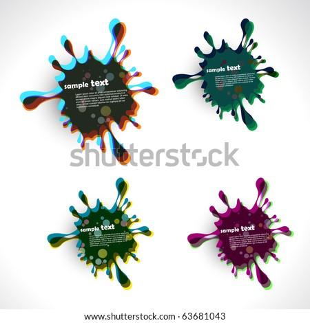 ink splash vector design illustration - stock vector