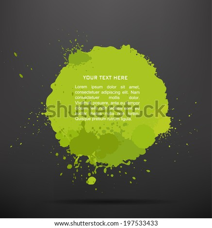 Ink splats. vector red ink splashes,each splash is grouped individually ,so you can modify it as you want.  - stock vector