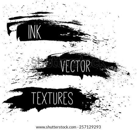 Ink Vector texture set. - stock vector