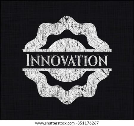 Innovation chalk emblem - stock vector