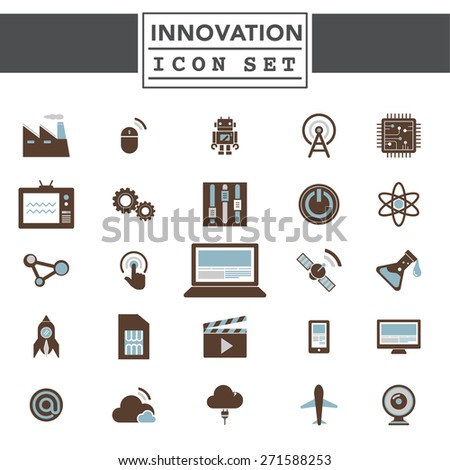 Innovation Technology Invention Development Experiment Concept - stock vector